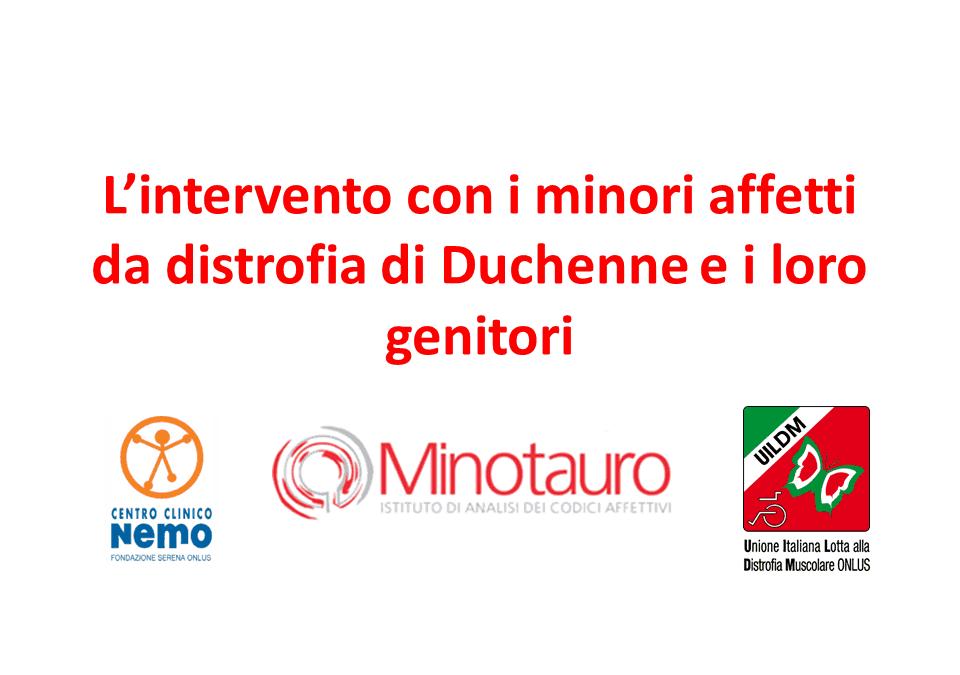 L'intervento con minori affetti da distrofia di Duchenne e i loro genitori